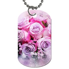 Flowers Roses Bouquet Art Abstract Dog Tag (two Sides)