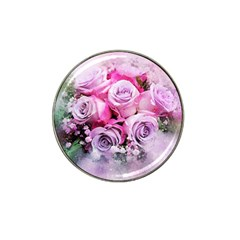 Flowers Roses Bouquet Art Abstract Hat Clip Ball Marker (10 Pack) by Celenk