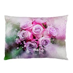 Flowers Roses Bouquet Art Abstract Pillow Case (two Sides)