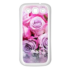 Flowers Roses Bouquet Art Abstract Samsung Galaxy S3 Back Case (white) by Celenk