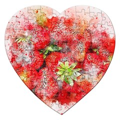 Strawberries Fruit Food Art Jigsaw Puzzle (heart)
