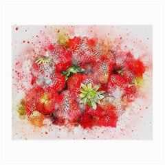 Strawberries Fruit Food Art Small Glasses Cloth