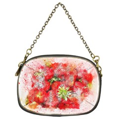 Strawberries Fruit Food Art Chain Purses (two Sides)