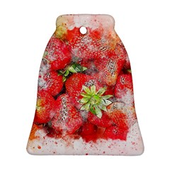 Strawberries Fruit Food Art Bell Ornament (two Sides) by Celenk