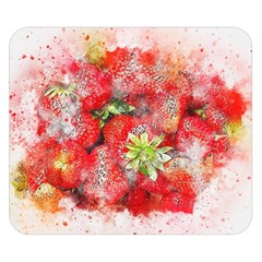 Strawberries Fruit Food Art Double Sided Flano Blanket (small)  by Celenk