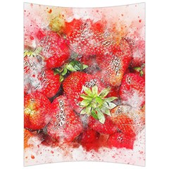 Strawberries Fruit Food Art Back Support Cushion by Celenk