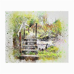 River Bridge Art Abstract Nature Small Glasses Cloth (2 Side)