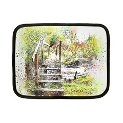 River Bridge Art Abstract Nature Netbook Case (small)