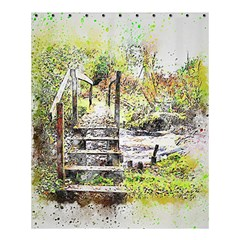 River Bridge Art Abstract Nature Shower Curtain 60  X 72  (medium)