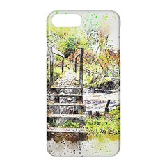 River Bridge Art Abstract Nature Apple Iphone 7 Plus Hardshell Case