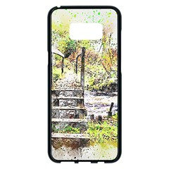 River Bridge Art Abstract Nature Samsung Galaxy S8 Plus Black Seamless Case