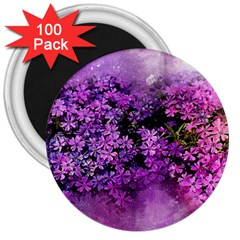Flowers Spring Art Abstract Nature 3  Magnets (100 Pack) by Celenk