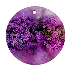 Flowers Spring Art Abstract Nature Round Ornament (two Sides)