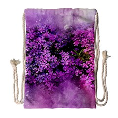 Flowers Spring Art Abstract Nature Drawstring Bag (large)