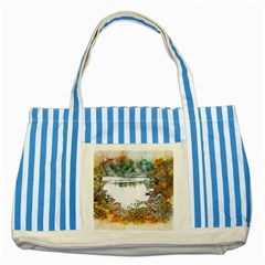 River Water Art Abstract Stones Striped Blue Tote Bag