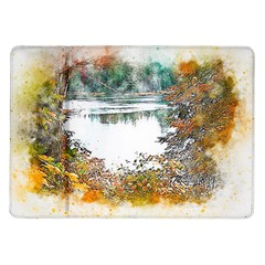 River Water Art Abstract Stones Samsung Galaxy Tab 10 1  P7500 Flip Case