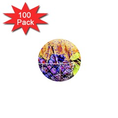 Fruit Plums Art Abstract Nature 1  Mini Magnets (100 Pack)