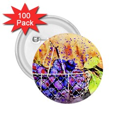 Fruit Plums Art Abstract Nature 2 25  Buttons (100 Pack)