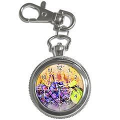 Fruit Plums Art Abstract Nature Key Chain Watches by Celenk
