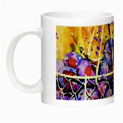 Fruit Plums Art Abstract Nature Night Luminous Mugs