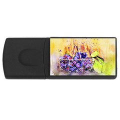 Fruit Plums Art Abstract Nature Rectangular Usb Flash Drive