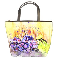 Fruit Plums Art Abstract Nature Bucket Bags