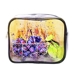 Fruit Plums Art Abstract Nature Mini Toiletries Bags by Celenk