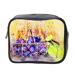 Fruit Plums Art Abstract Nature Mini Toiletries Bag 2 Side by Celenk