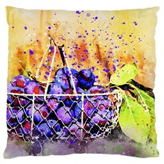 Fruit Plums Art Abstract Nature Standard Flano Cushion Case (one Side) by Celenk