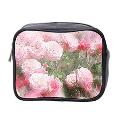 Flowers Roses Art Abstract Nature Mini Toiletries Bag 2 Side