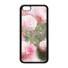 Flowers Roses Art Abstract Nature Apple Iphone 5c Seamless Case (black) by Celenk