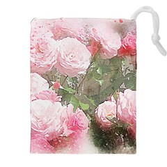 Flowers Roses Art Abstract Nature Drawstring Pouches (xxl)