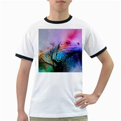 Lizard Reptile Art Abstract Animal Ringer T Shirts by Celenk
