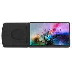 Lizard Reptile Art Abstract Animal Rectangular Usb Flash Drive by Celenk