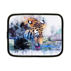 Tiger Drink Animal Art Abstract Netbook Case (small)