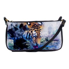 Tiger Drink Animal Art Abstract Shoulder Clutch Bags