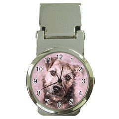 Dog Pet Terrier Art Abstract Money Clip Watches by Celenk