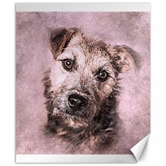 Dog Pet Terrier Art Abstract Canvas 8  X 10  by Celenk