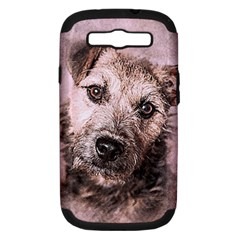Dog Pet Terrier Art Abstract Samsung Galaxy S Iii Hardshell Case (pc+silicone) by Celenk