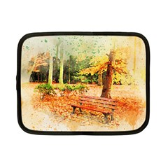 Tree Park Bench Art Abstract Netbook Case (small)
