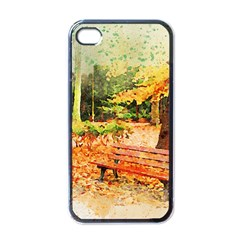 Tree Park Bench Art Abstract Apple Iphone 4 Case (black)