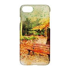 Tree Park Bench Art Abstract Apple Iphone 7 Hardshell Case by Celenk