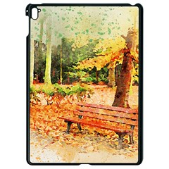 Tree Park Bench Art Abstract Apple Ipad Pro 9 7   Black Seamless Case by Celenk