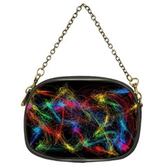 Background Light Glow Abstract Art Chain Purses (two Sides)
