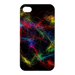 Background Light Glow Abstract Art Apple Iphone 4/4s Premium Hardshell Case