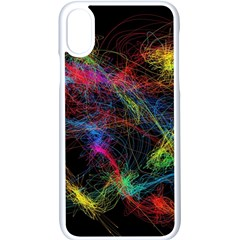 Background Light Glow Abstract Art Apple Iphone X Seamless Case (white)