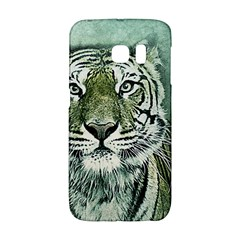 Tiger Cat Art Abstract Vintage Galaxy S6 Edge by Celenk