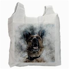 Dog Pet Art Abstract Vintage Recycle Bag (one Side)