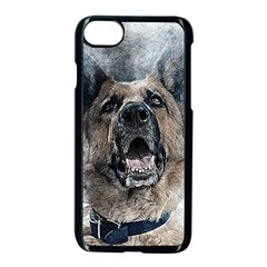 Dog Pet Art Abstract Vintage Apple Iphone 8 Seamless Case (black)