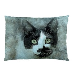 Cat Pet Art Abstract Vintage Pillow Case (two Sides)